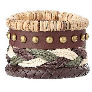 Boho Leather Cuff Bracelet